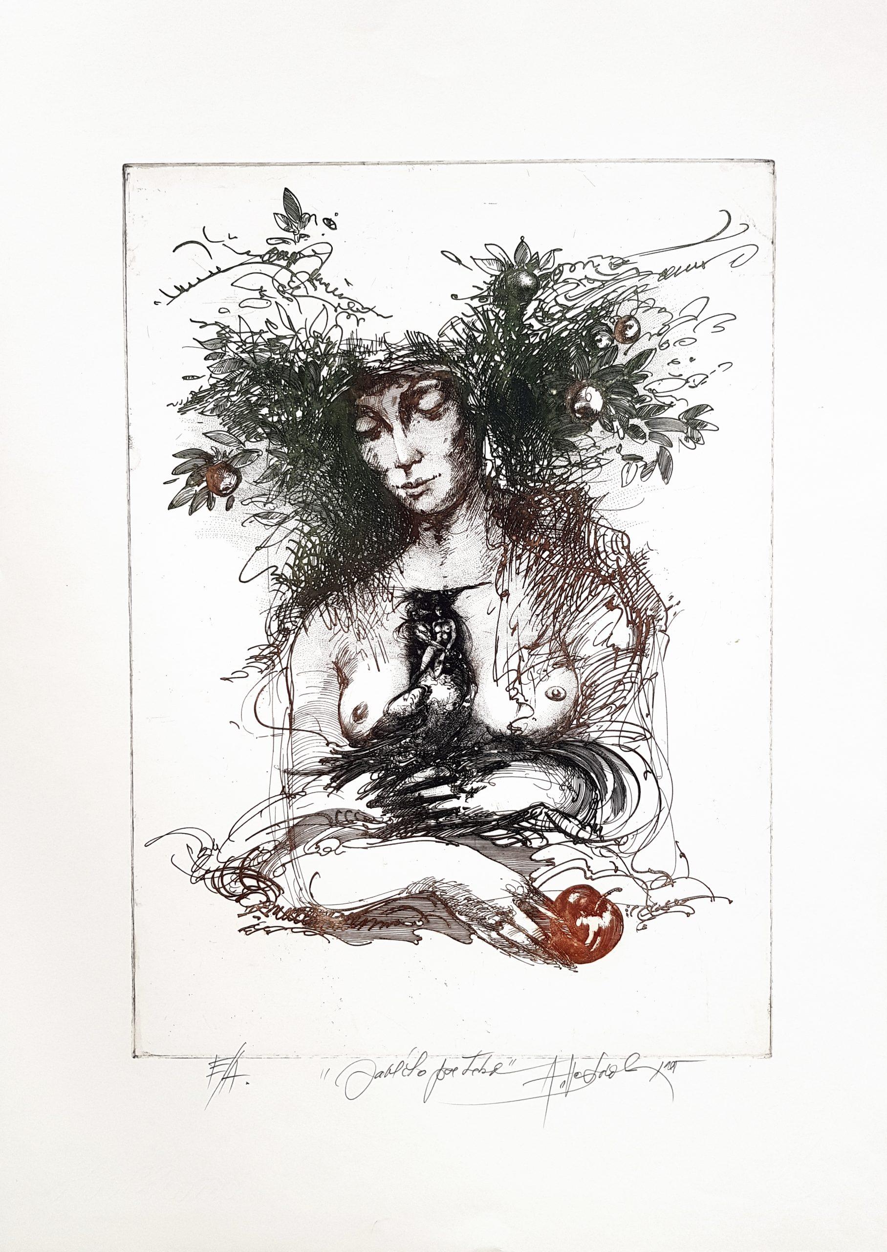 Jabĺčko pre Teba, Alexej Vojtášek, akademický maliar, rámovanie, Galéria AVE