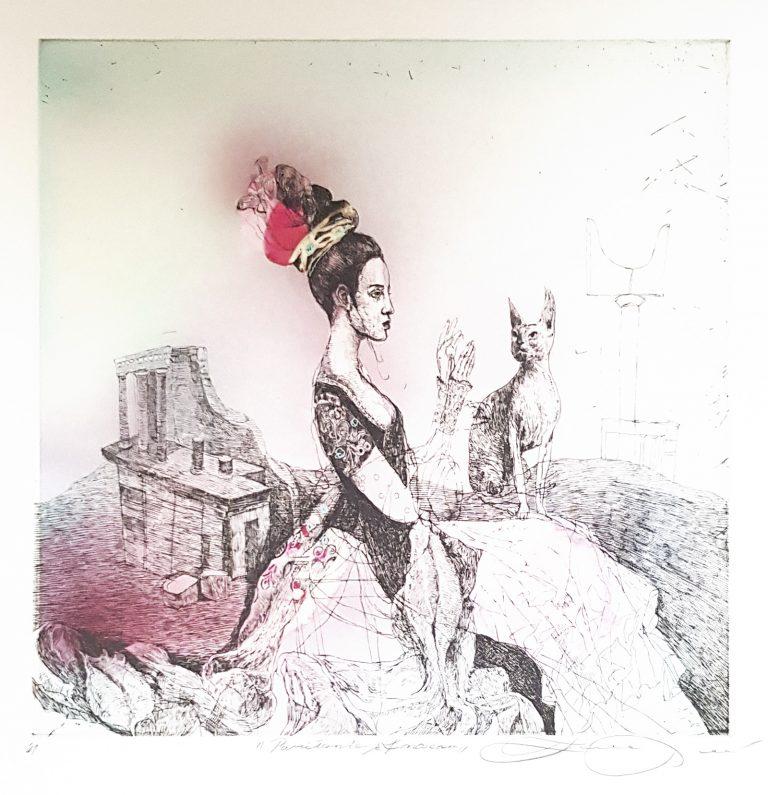 Parížanka Z Knossosu, Katarína Vavrová, Galéria Ave, Rámovanie