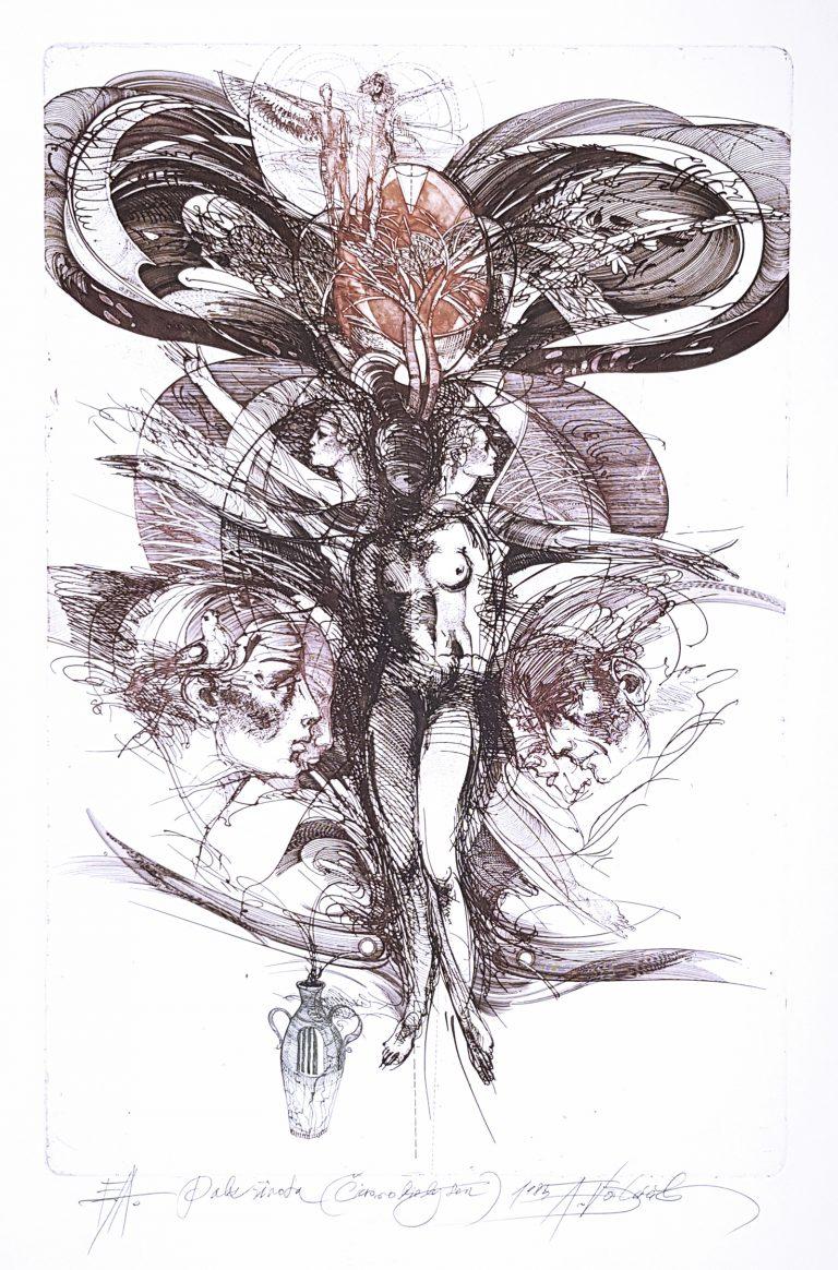 Pulz života - Čiernobiely sen, Vojtasek, rámovanie obrazov, Galéria AVE