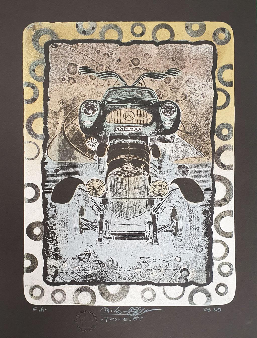 Trofeje čierne Marián Komáček, rámovanie obrazov, výtvarné diela